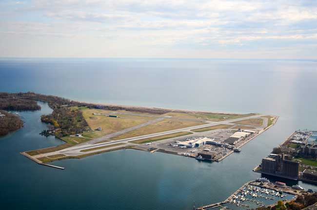 Billy Bishop Toronto City Airport is an international airport in Toronto Islands.